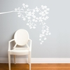 Coastline Blossoms in White Wall Decal