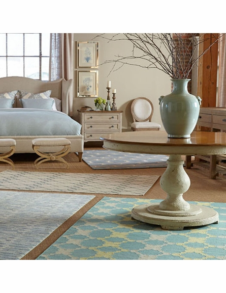 Coastline Rug in Aqua Gold
