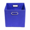 Cobalt Blue Canvas Storage Bin