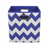 Cobalt Chevron Canvas Storage Bin