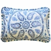 Cobalt Moon Throw Pillow
