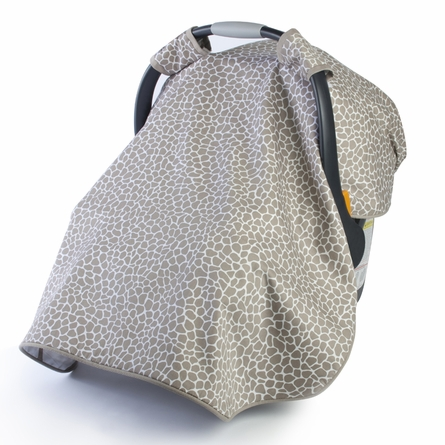 Cobblestone Car Seat Canopy in Taupe
