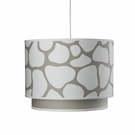 Cobblestone Double Cylinder Pendant Light in Taupe