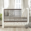 Cobblestone Patterned Crib Skirt in Taupe