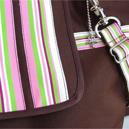 Cocoa Blush Stripe Diaper Bag