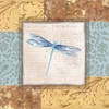 Collaged Dragonflies V Canvas Reproduction