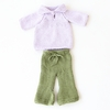 Collar Sweater & Pants Organic Hand-Knit Doll Clothes