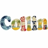 Collin Island Surf Hand Painted Wall Letters