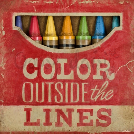 Color Outside the Lines Canvas Wall Art