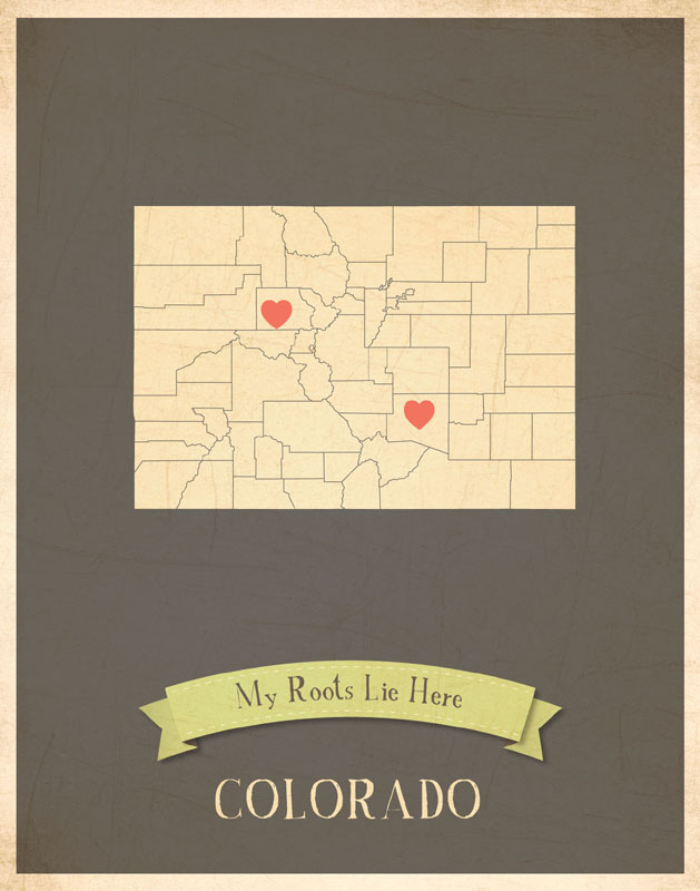Colorado My Roots State Map Art Print By Children Inspire