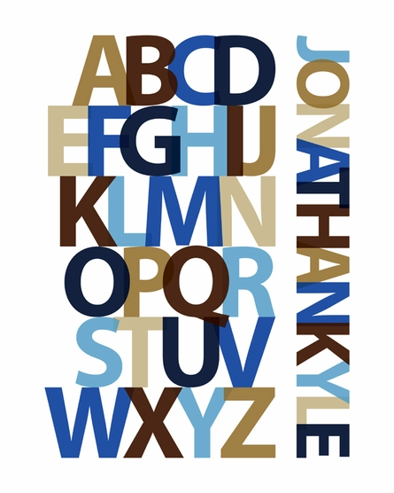Colorful Alphabet Personalized Framed Print
