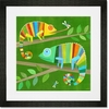 Colorful Chameleons Framed Art Print