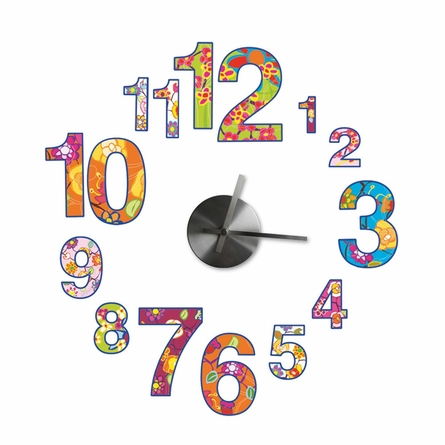 Colorful Clock Wall Decal