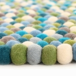 Colorful Felt Ball Rugs for Kids