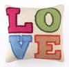 Colorful L.O.V.E. Hook Pillow
