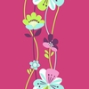 Colorful Large Floral Stripe Wallpaper