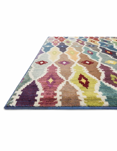 Colorful Lattice Lyon Rug