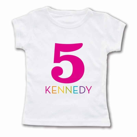Colorful Number Personalized T-Shirt
