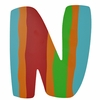 Colorful Stripes Wall Letter - N
