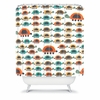 Colorful Turtles Shower Curtain