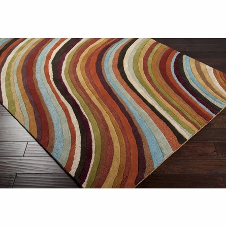 Colorful Wave Oasis Rug