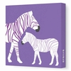 Colorful Zebra Canvas Wall Art