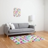 Colour Block Flat Weave Rug