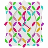 Colour Block Quatrefoil Wall Clock