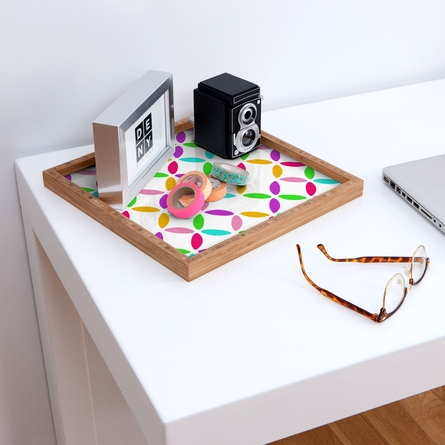 Colour Block Square Tray