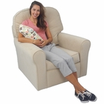 Comfy Cozy Glider in Buckwheat Velvet