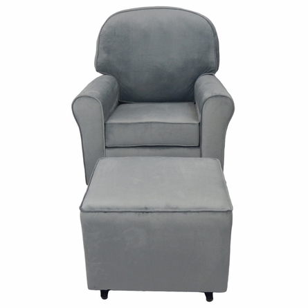 Comfy Cozy Glider in Grey Velvet