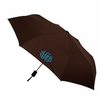 Compact Monogrammed Umbrella in Chocolate Brown