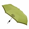 Compact Monogrammed Umbrella in Light Green with Brown Trim