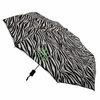 Compact Monogrammed Umbrella in Zebra