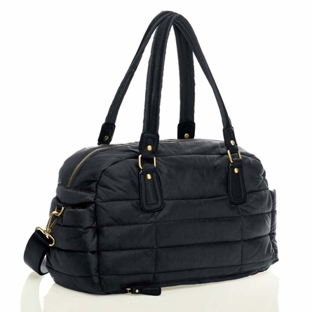 Companion Satchel Diaper Bag in Black