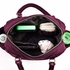 Companion Satchel Diaper Bag in Plum