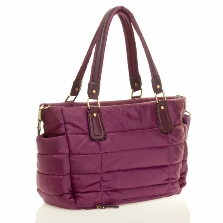Companion Tote Diaper Bag in Plum