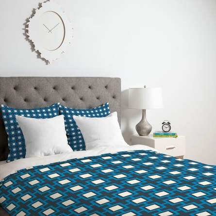 Concentric Square Lightweight Duvet Cover