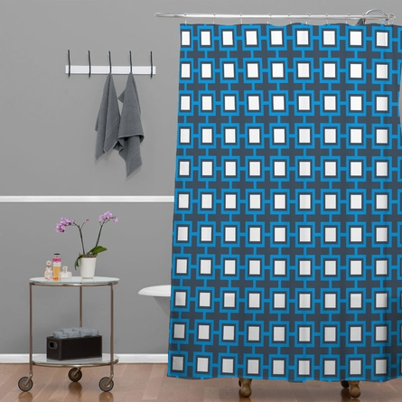 Concentric Square Shower Curtain