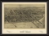 Coney Island Map 1906 Framed Wall Art