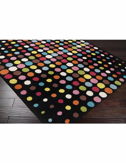 Confetti Dots Dreamscape Rug in Black