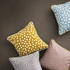 Confetti Dots Throw Pillow in Dusty Blue