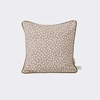 Confetti Dots Throw Pillow in Grey