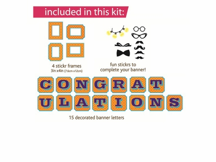 Congratulations Sticker Banner