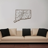 Connecticut Map Wooden Wall Art