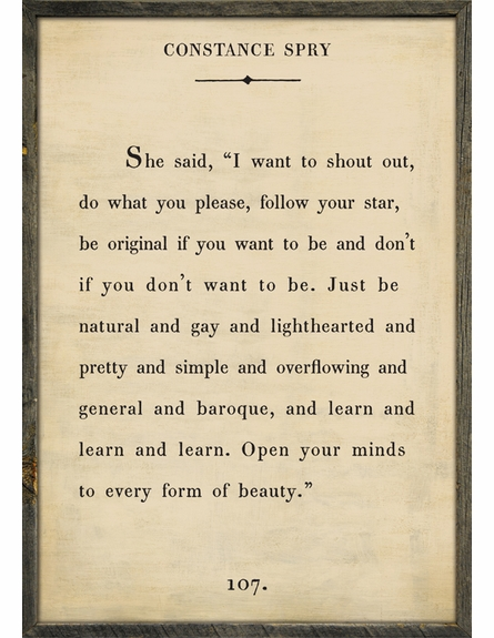 Constance Spry Quote Vintage Framed Art Print