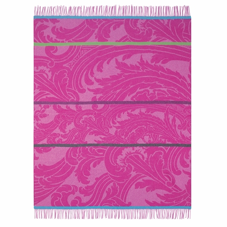 Constantinople Fuchsia Throw Blanket