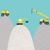 Construction Diggers Canvas Wall Art