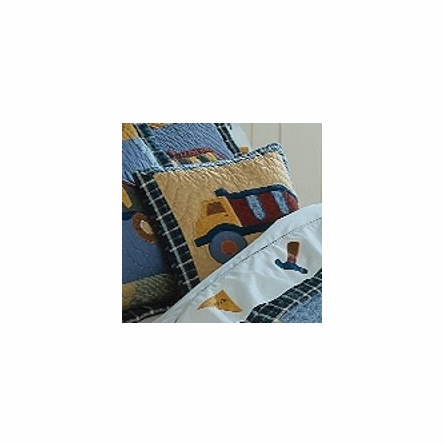 Construction Quilt with Pillow Sham