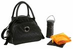 Continental Flair Diaper Bag in Sassy Black